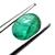 Brazilian Emerald Precious Hand Polished 8 x 6 mm Oval Cabochon Loose Gemstone.