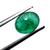 Brazilian Emerald Precious Hand Polished 8 x6 mm Oval Cabochon Loose Gemstone.