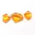 Lemon Citrine Semi Precious Faceted Fancy Shape three Piece Loose Gemstone.