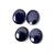 Iolite Semi Precious Hand Polished 10 x 12 mm Oval Cabochon Loose Gemstone.