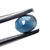Blue Black Sapphire Precious Faceted  4 x 3 mm Oval Loose Gemstone.