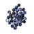 Blue Black Sapphire Precious Hand Polished 6mm Round Cabochon  Loose Gemstone.