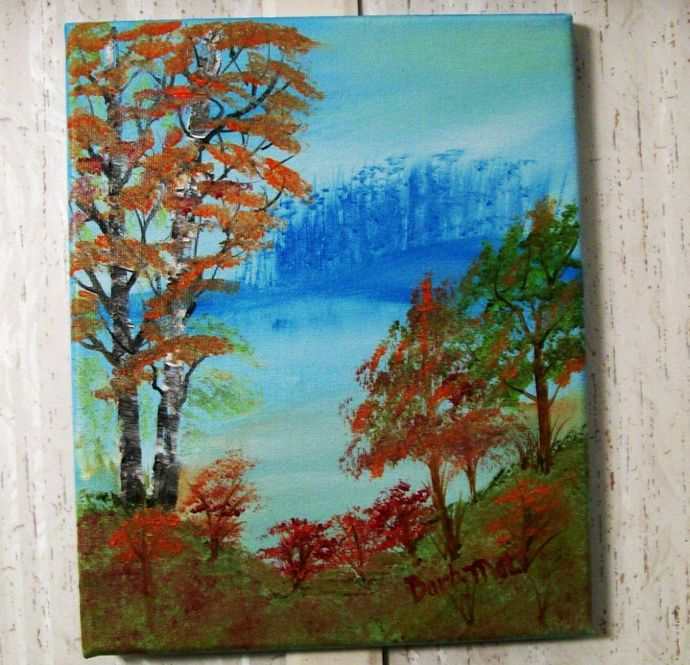 """Original Painting, 8x10 Oil Painting, Landscape Painting, """"Early Autumn"""""""