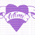 Custom Personalized Heart with Banner Vinyl Decal with Name Sticker In Memory