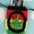 Hemp Leaf Bag in Rasta Stripes