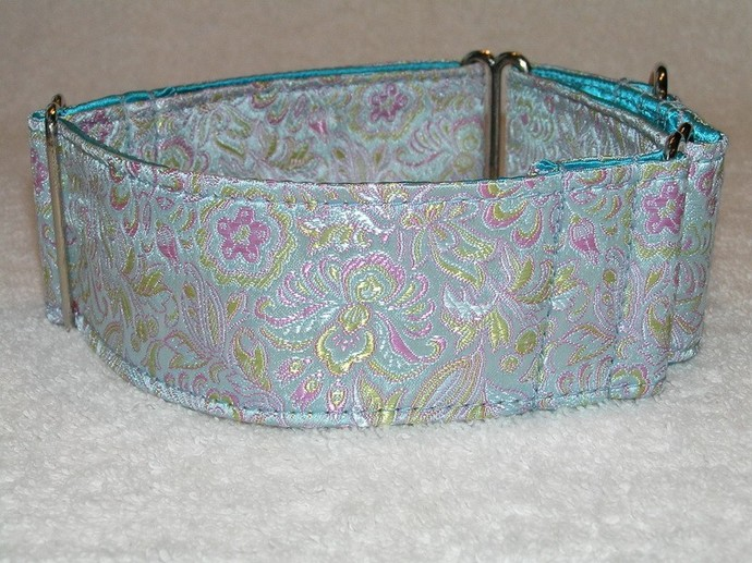 Meilin Silk Brocade Dog Collar
