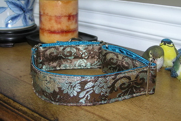 Daysha Silk Brocade Dog Collar