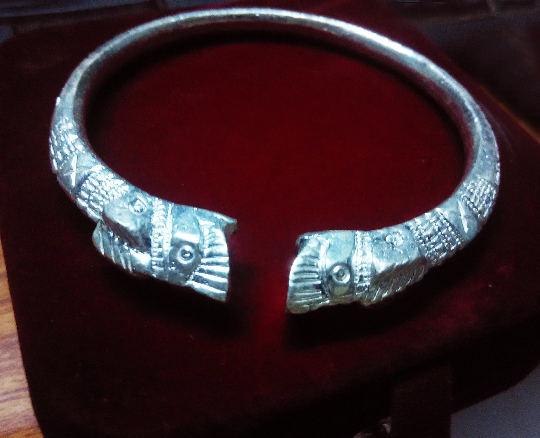 Unique Solid Silver Bracelet cuff Hand crafted - 99% Pure Silver Solid high