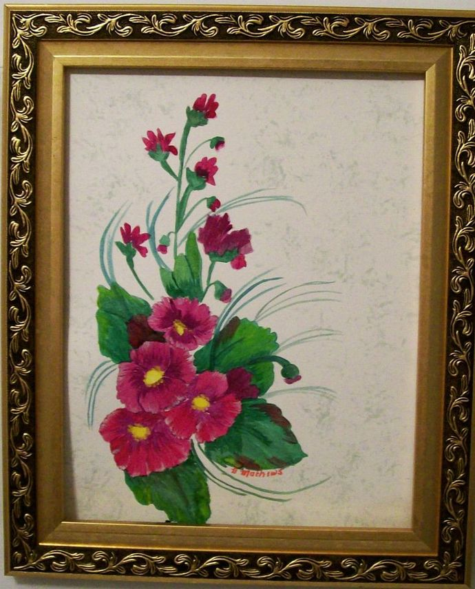 """Watercolor Painting, Original Painting, 11x15 Painting, Floral Painting, """"a"""