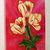 """Original Oil Painting, Yellow tulips Painted, """"A Trio of Tulips"""", 11x14"""""""