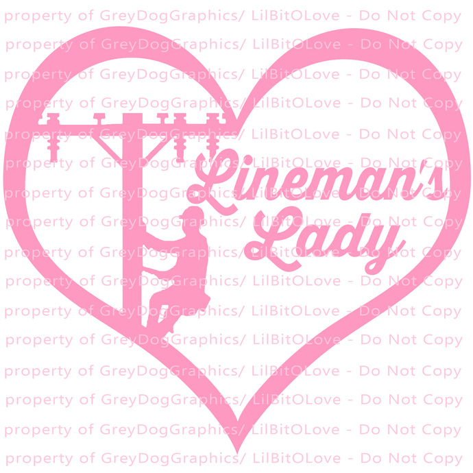 Lineman's Lady Heart Vinyl Decal Sticker Electrician Electricity Electric