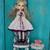 Bbflocking Cricket doll embroidered -Spring violet - vintage romantic <3