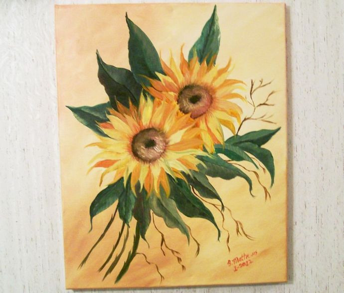 "Oil Painting, Original Painting, 16x20 Oil Painting, Floral Painting, ""Two"