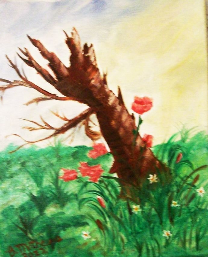 "Oil Painting, Original Painting, 8x10 Oil Painting, Landscape Painting, ""After"