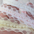 Lace Beaded Layered Edge Satin Ribbon Trim - 5/8 inch White, Ivory, Baby Pink