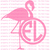 Custom Flamingo Mongram Vinyl Decal Sticker Beach Island Ocean One Two or Three