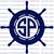 Custom Ship's Wheel Monogram Personalized Vinyl Decal Sticker Beach Island Ocean