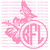 Full Sized Custom Hibiscus Butterfly Monogram Personalized Vinyl Decal Sticker