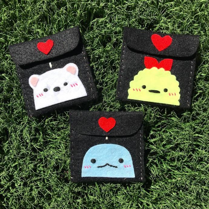 Sumikko Gurashi Felt Coin Purses - Felt & Embroidery