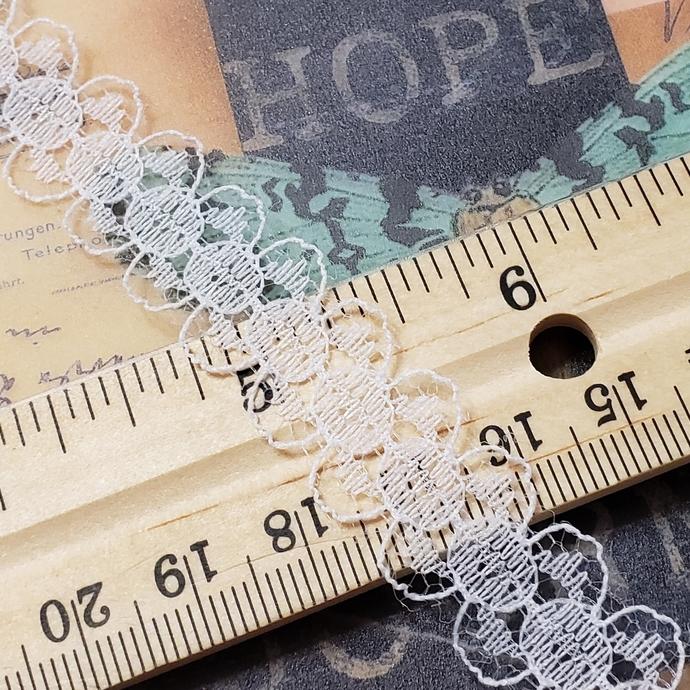 White lace trim 1 yd