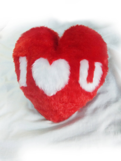 I love you Heart Cushion Pillow - Filled Pillow  Washable - valentine's day gift