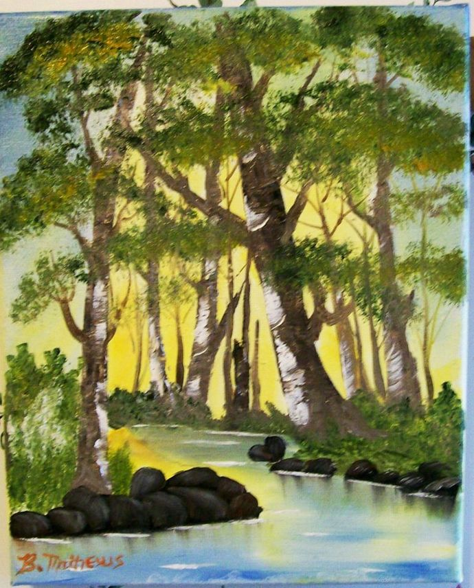 "Oil Painting, Original Painting, 8x10 Oil Painting, Landscape Painting, ""Trees"