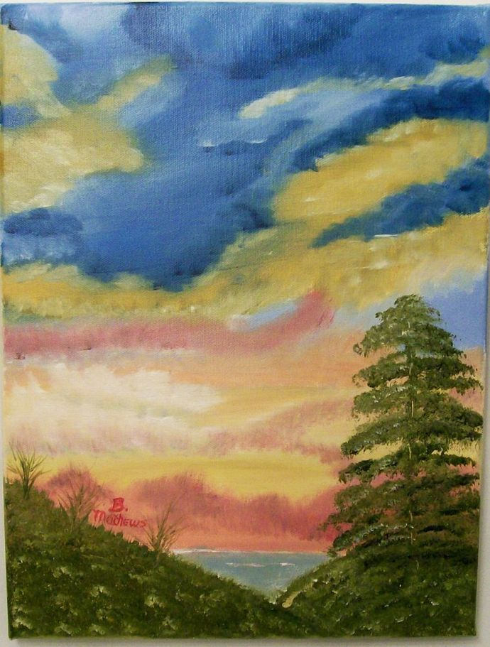 Oil Painting, Original Painting, 12x16 Oil Painting, Landscape Painting,