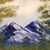 "Oil Painting, 16x20 Oil Painting, Landscape Painting, ""Neighborly Peaks"""