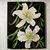 """Floral Oil Painting, 8x10 Painting, """"Tiger Lily"""", Original Flower Small Painting"""