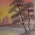 "Landscape Oil Painting, 18x24 Painting, ""A Misty Morning"", Flower Large Bob Ross"