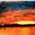 "Oil Painting, Original Painting, 14x18 Oil Painting, Landscape Painting, ""Sunset"