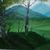 """Landscape Painting, """"Hazy Moiuntains"""", 11x14"""" painting, Hand Painted in the USA,"""