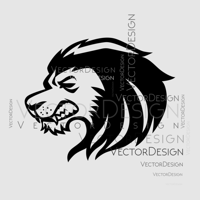 Lion Head v4 Graphics SVG Dxf EPS Png Cdr Ai Pdf Vector Art Clipart instant