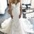Charming White Tulle Appliques Mermaid Wedding Dresses, Formal Bridal Gowns
