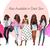 Watercolor fashion illustration clipart - Girls in Black & Pink - Light Skin