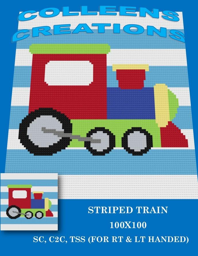 Striped Train Baby -Crochet Written & Graph Design