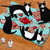 Tea and Takeout Cats on a Rug Original Cat Folk Art Painting