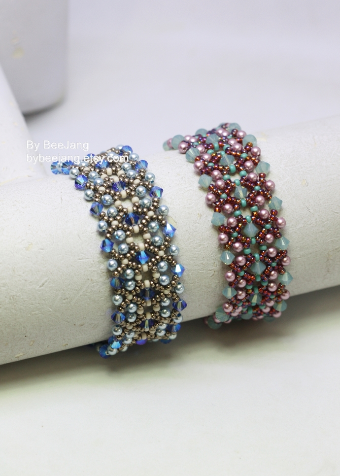 Beading Patterns, Layla Bracelet, Beadweaving Patterns, Bracelet Tutorials,