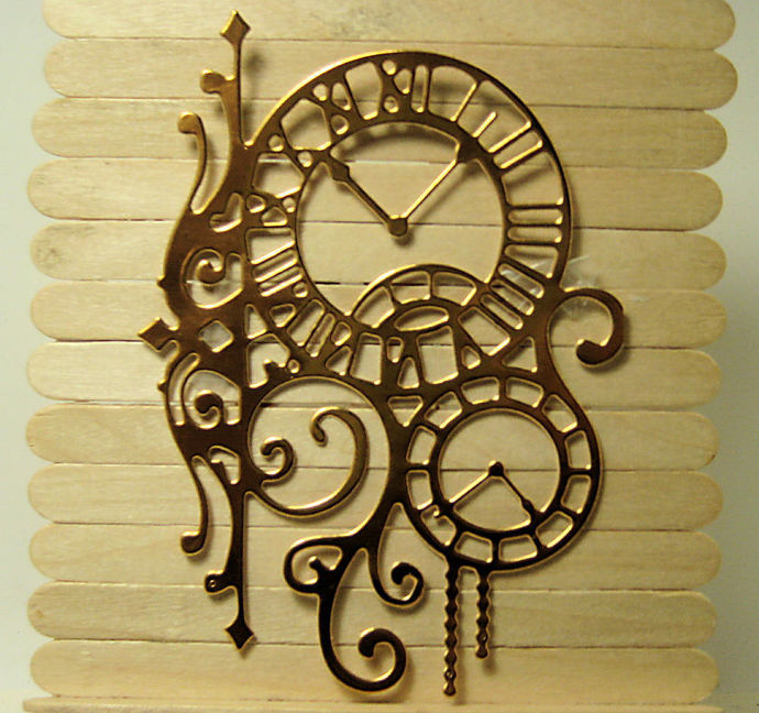Clocks Metal Cutting Die, Steampunk, Fancy