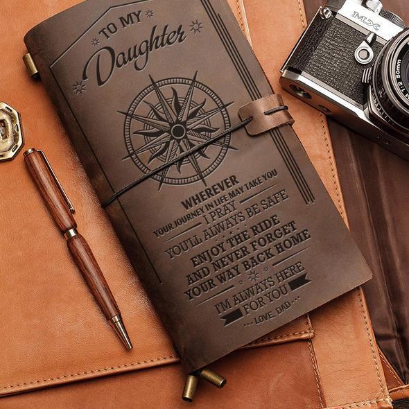 Great Gift For Daughter Engraved Leather Notebook | Perfect Gift For Your