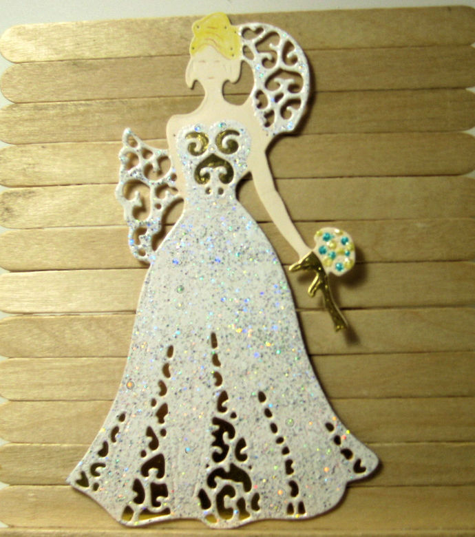Wedding Couple Bride and Groom Cutting Die Set Style #3