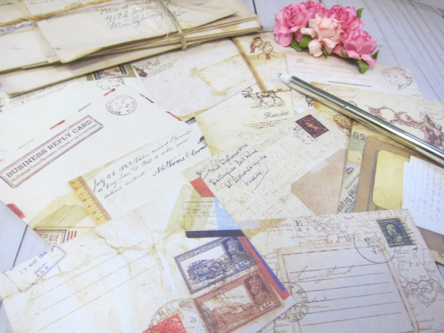 Mini Envelopes Scrapbooking Cardmaking Journal Junk Journal Retro Craft Paper  -