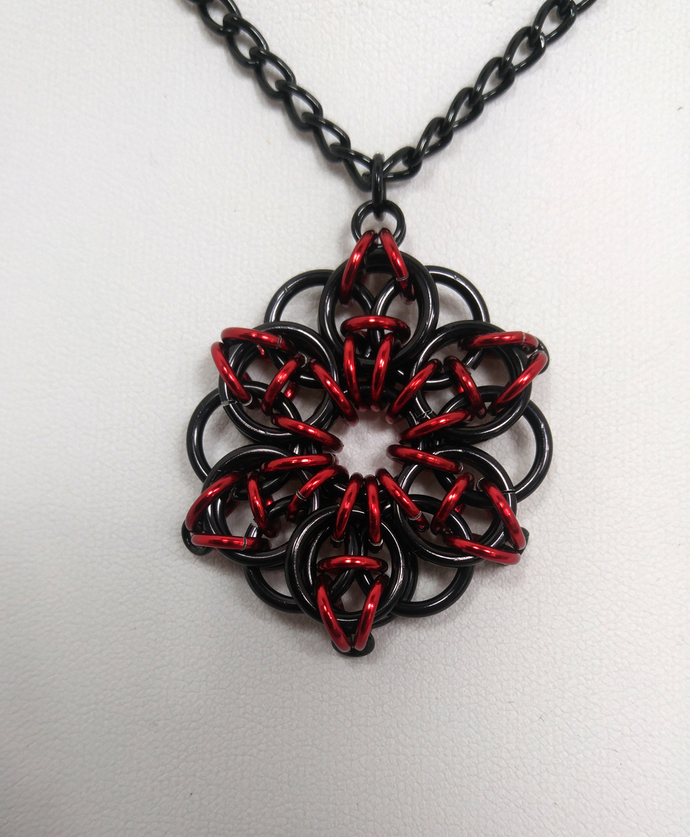 Celtic star, necklace, chainmaille, pendant, star necklace, star pendant