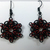 Celtic star earrings, chainmaille earrings, chainmail gothic jewelry