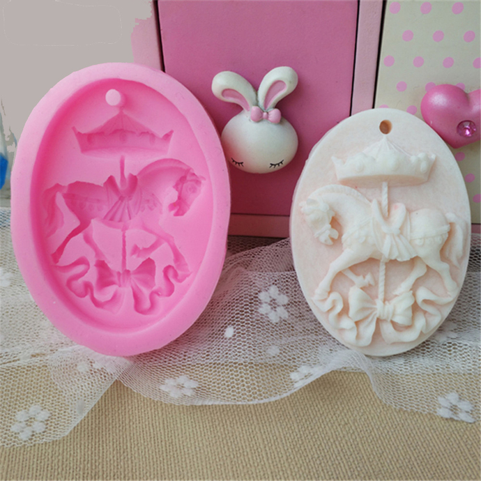 Mold Carousel Horse Paris French Shabby Chic Cameo Silicone Soft Silicone Mold