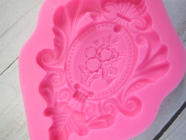 Mold Ornate Cameo Decorative Dimensional Element Silicone Soft Silicone Mold