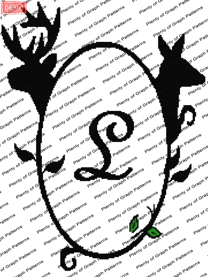 Buck and Doe Frame L graph and written pattern