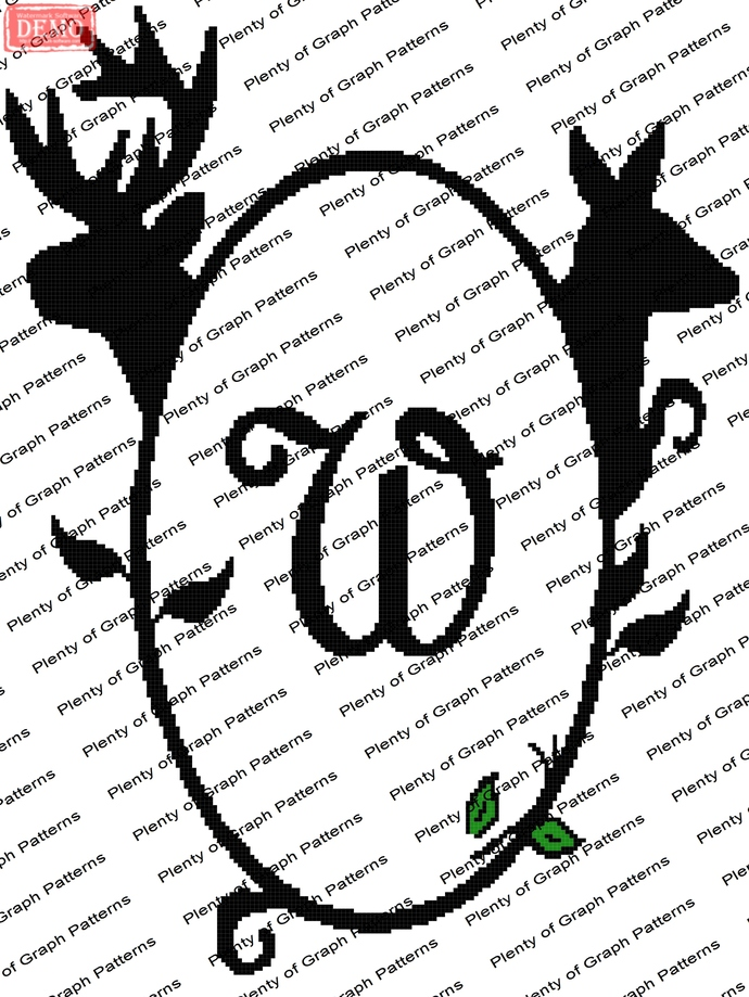Buck and Doe Frame W graph and written pattern