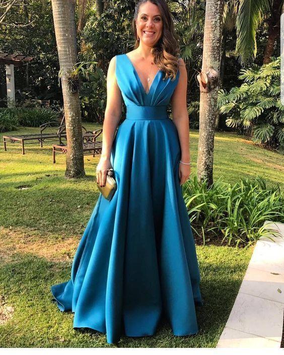Custom Made A Line Prom Dress, Sexy Sleeveless Party Dress