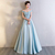 Bule Satin Prom Dresses,Evening Dress, Evening Dresses,Prom Gowns, Formal Women